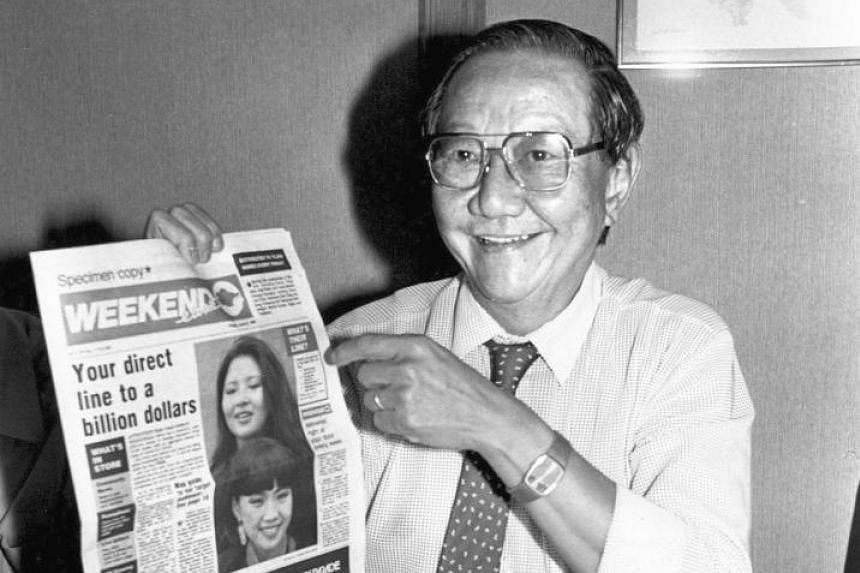 """T. S. Khoo was appointed group editor in 1972. His reputation as one of Asia's best designers of newspaper pages earned him the title """"The Fastest Pen In The East""""."""