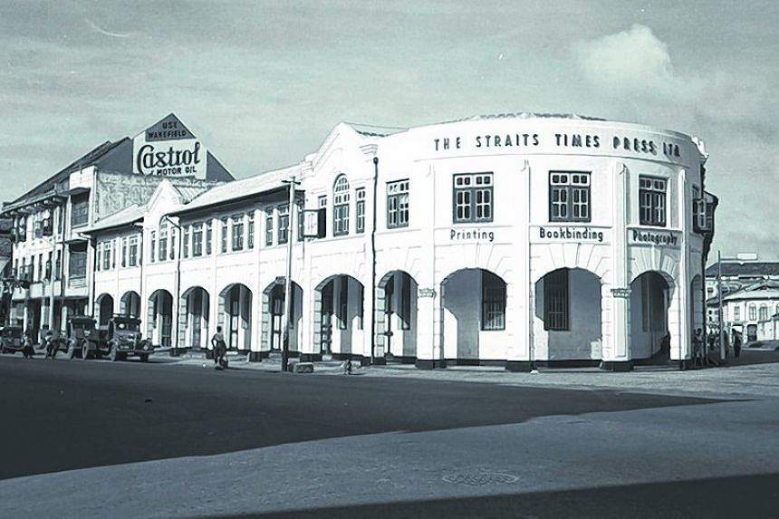 The Straits Times building in Anson Road in a December 1954 photo.