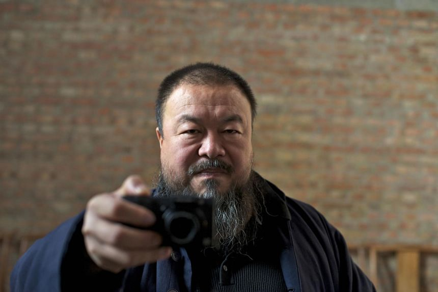 Chinese artist Ai Weiwei in the movie, Ai Weiwei: Never Sorry.