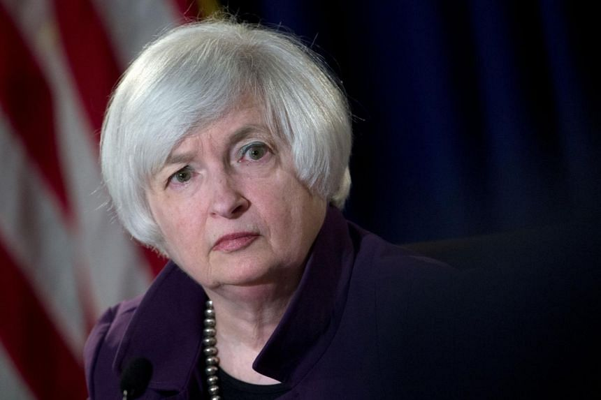 A file picture of Federal Reserve Chair Janet Yellen at a news conference in Washington. PHOTO: BLOOMBERG