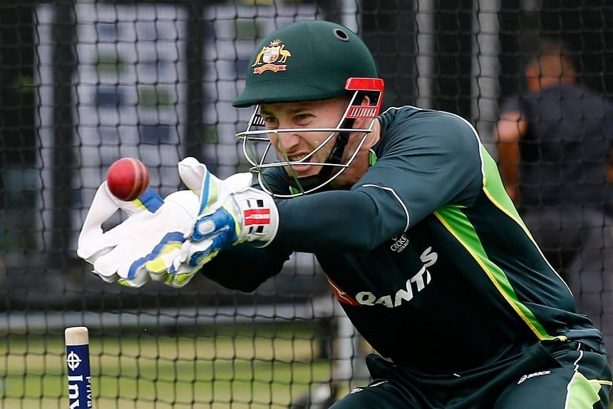 Australian wicketkeeper Peter Nevill takes part in a practice session at Lord's cricket ground in London, on July 15, 2015, on the eve of the second Ashes Test against England.