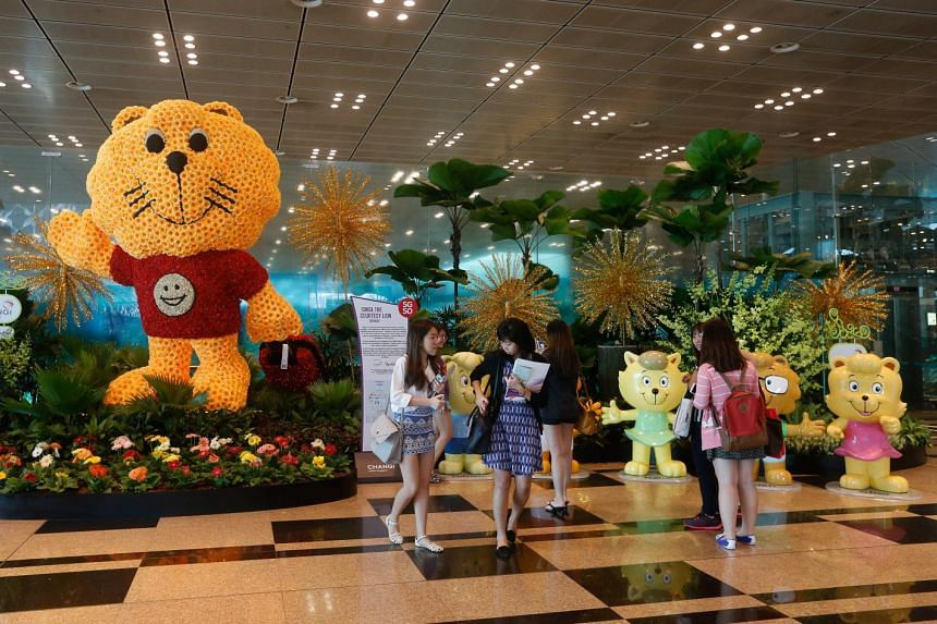 The airport's SG50 trail features tourist icons, local dishes and landmarks, and aims to reflect Singapore's past, present and future.