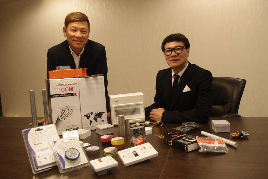 Founders of Choo Chiang Holdings, Mr Rocky Lim (left) and Mr Thomas Lim. The firm, which started with an initial investment of $12,000, raked in $70.4 million in revenue last year, with a net profit of $6 million.