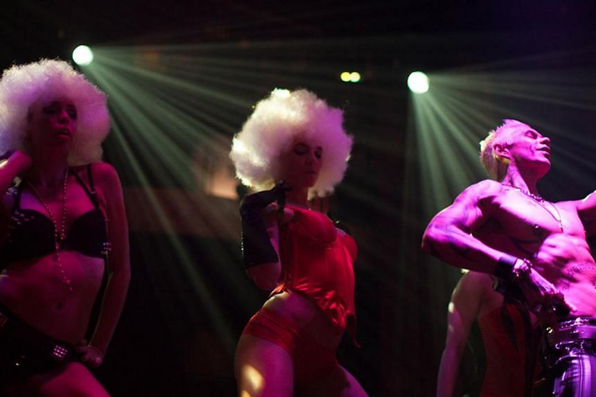 Performers of The Box, which is known for its part-burlesque, part-kitschy cabaret.