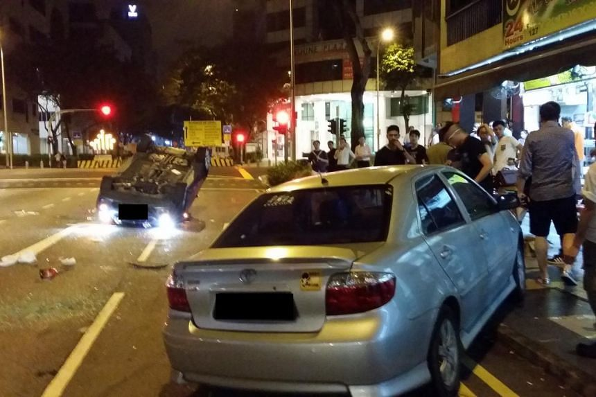 The SCDF said the driver of the other vehicle, a Toyota, was also sent to TTSH.