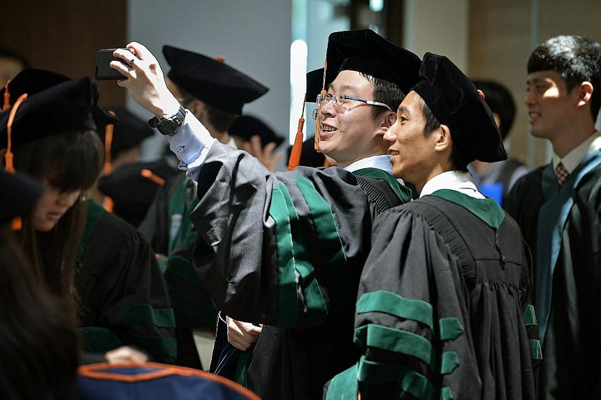 Students from Duke-NUS Graduate Medical School attending their graduation ceremony in May. The TeamLEAD learning system developed at the school has gained widespread recognition.