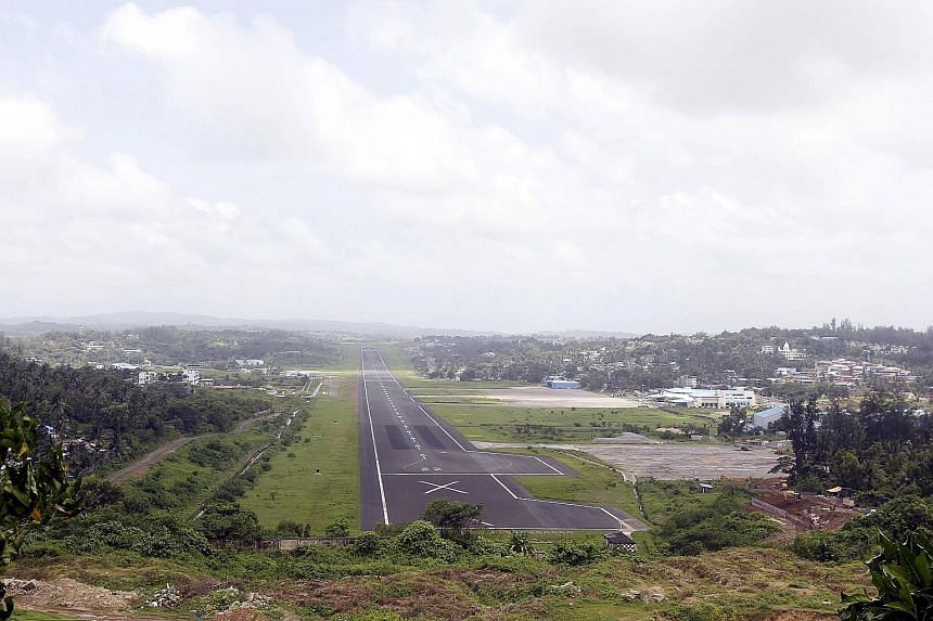 The military runway at Port Blair airport. The arrival of four warships at Port Blair signals the transformation of the island chain into a key plank in India's strategy to counter China's naval presence in the Indian Ocean.