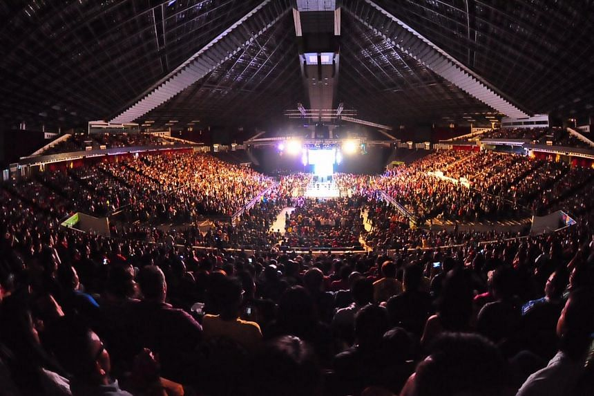 Nearly 9,000 fans packed the Singapore Indoor Stadium on July 2, 2015. Some had come as far as Thailand and Philippines to watch the show.