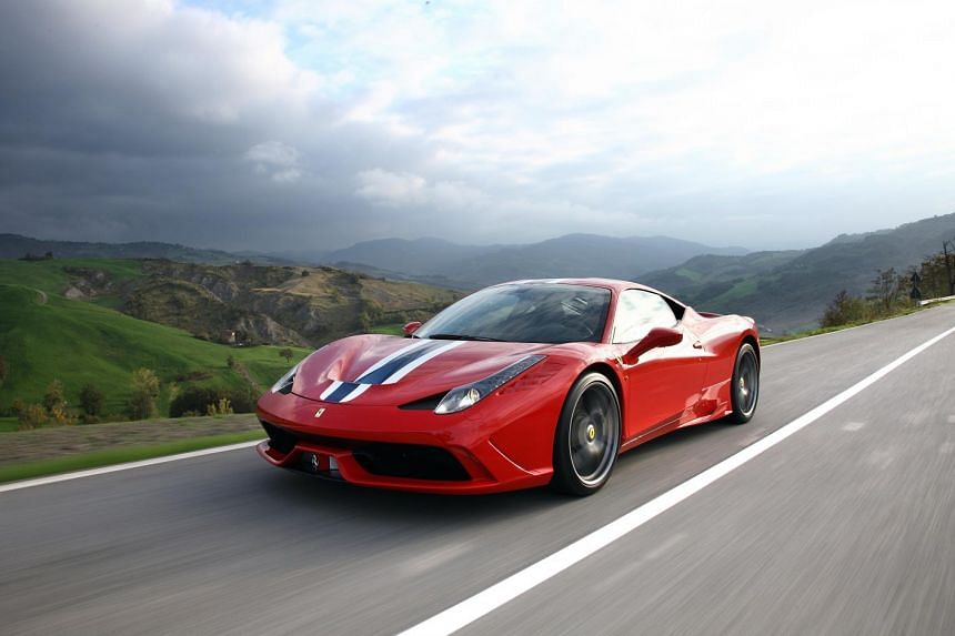 Ferrari 458 Speciale is among the models recalled by supercar maker Ferrari SpA to fix driver-side air bags. Source: FERRARI