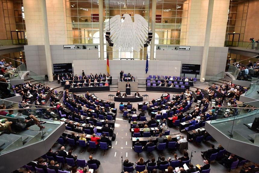 The German lower house of parliament in Berlin on July 17, 2015.