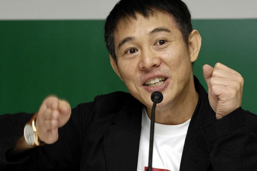 Jet Li, actor and founder of One Foundation, speaks at the Forbes Global CEO Conference in Singapore.