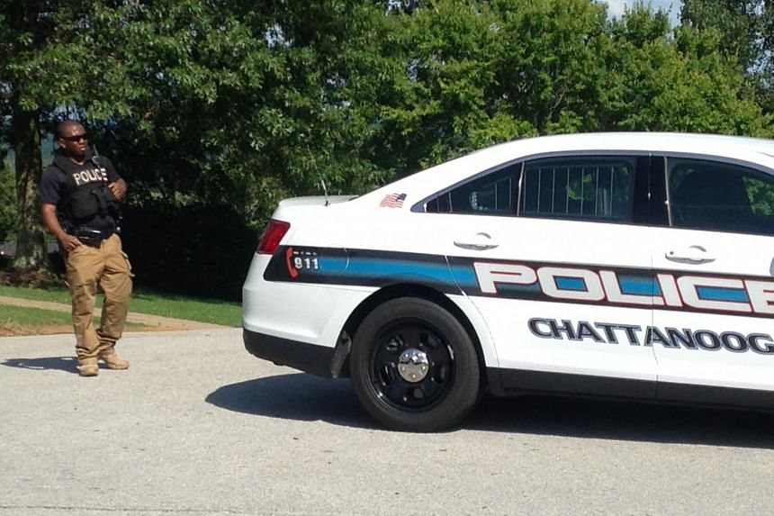 Police block a street near the home of suspected shooter Muhammod Youssuf Abdulazeez in Chattanooga.