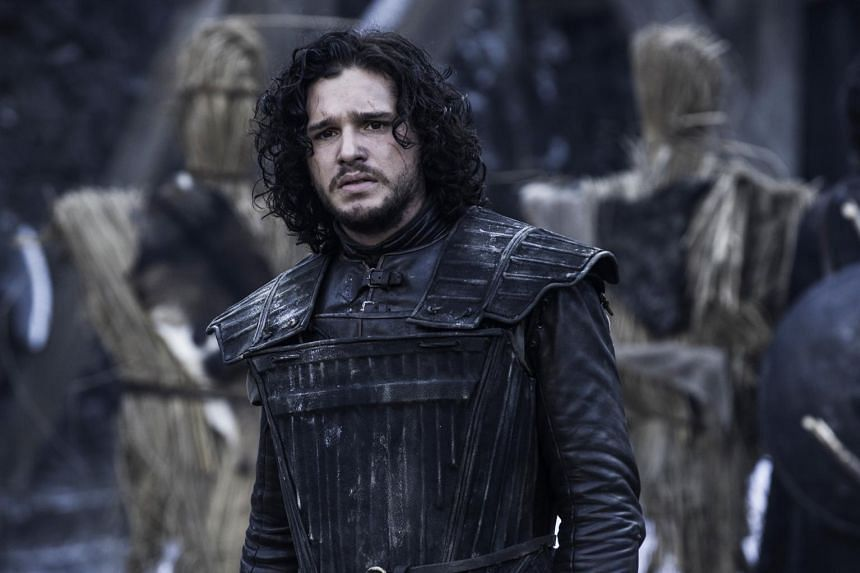 A television still from Game Of Thrones starring Kit Harington.