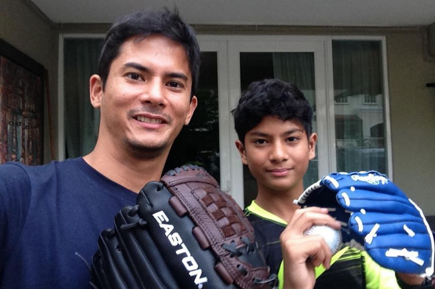 Alex Yoong spends time with his 12-year-old son, Alistair, on weekends.