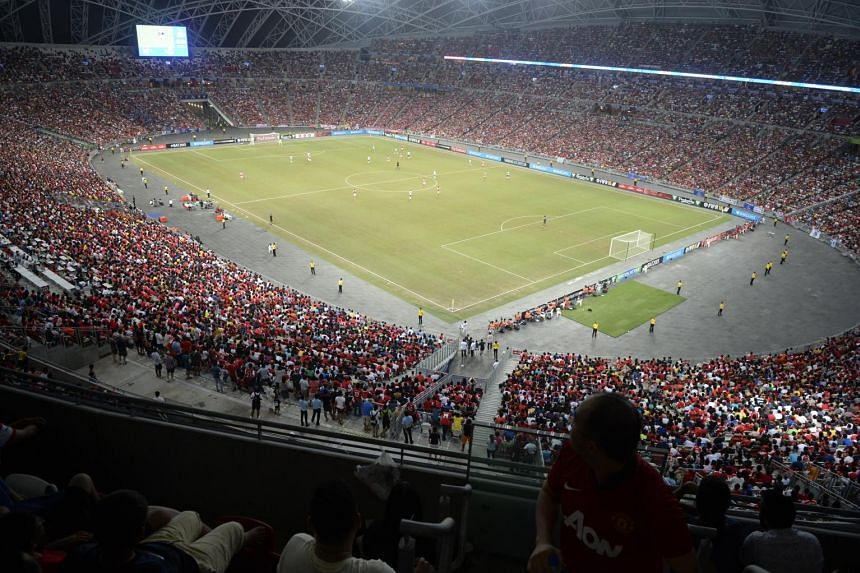 A fully packed National Stadium during the Barclays Asia Trophy final between Arsenal and Everton on July 18, 2015.