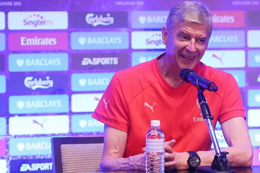 Arsene Wenger at a pre-match press conference.