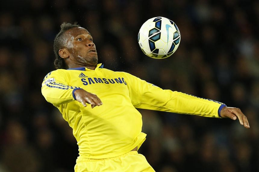 Didier Drogba in action for Chelsea.