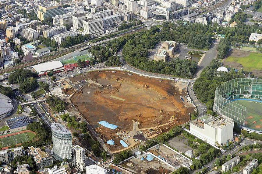 The planned construction site for the new Olympic stadium in Tokyo.