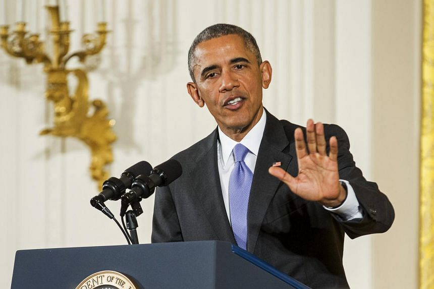 US President Barack Obama speaks during a news conference about the recent nuclear deal reached with Iran, in the East Room of the White House in Washington on July 15, 2015.