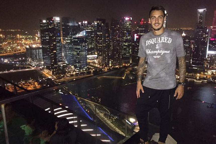 """Stoke's new signing, Joselu, is captivated by Singapore's skyline: """"Incredible views."""""""