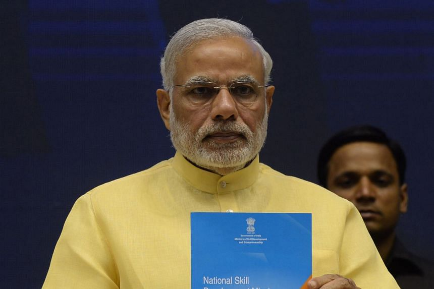 Mr Modi launching his Skill India initiative this week, which is aimed at expanding skills training nationwide.