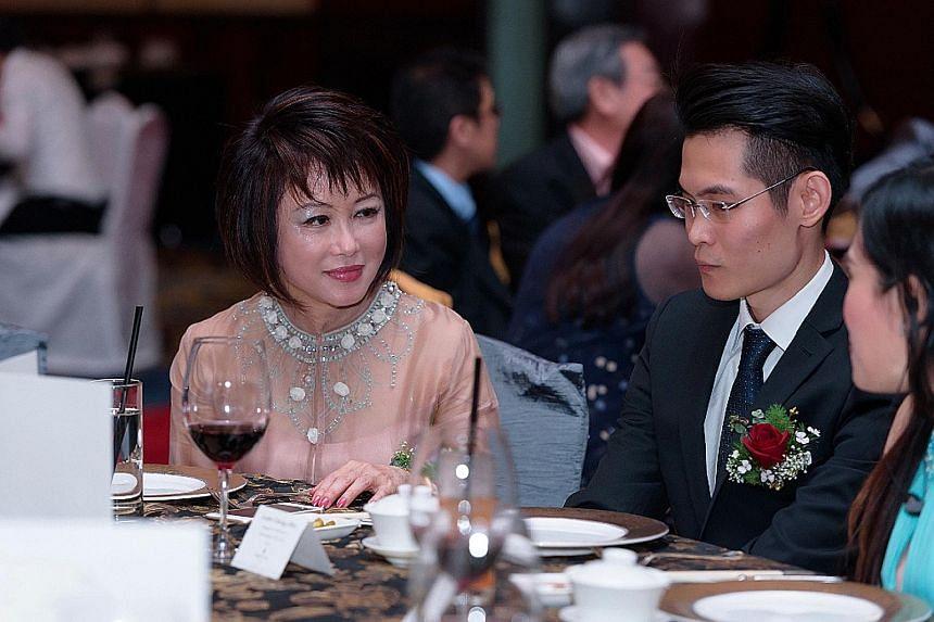 Dr Lily Neo, MP for Tanjong Pagar GRC, and Mr Leslie Cheng, chief executive of the Singapore Resource Association. Dr Neo was at the SRA award dinner last year, which raised $15,000 for the Hospice Care Association.