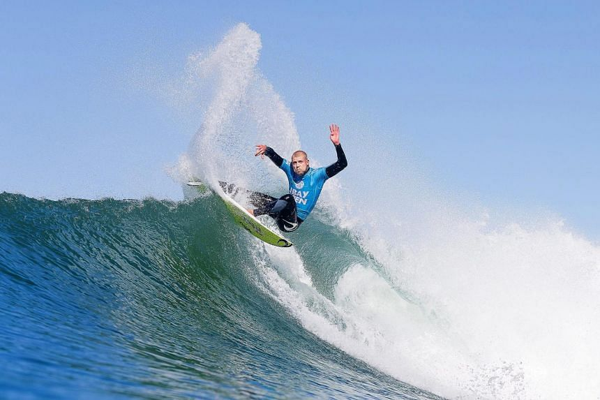 Mick Fanning in action during the J-Bay Open event, prior to the shark attack.