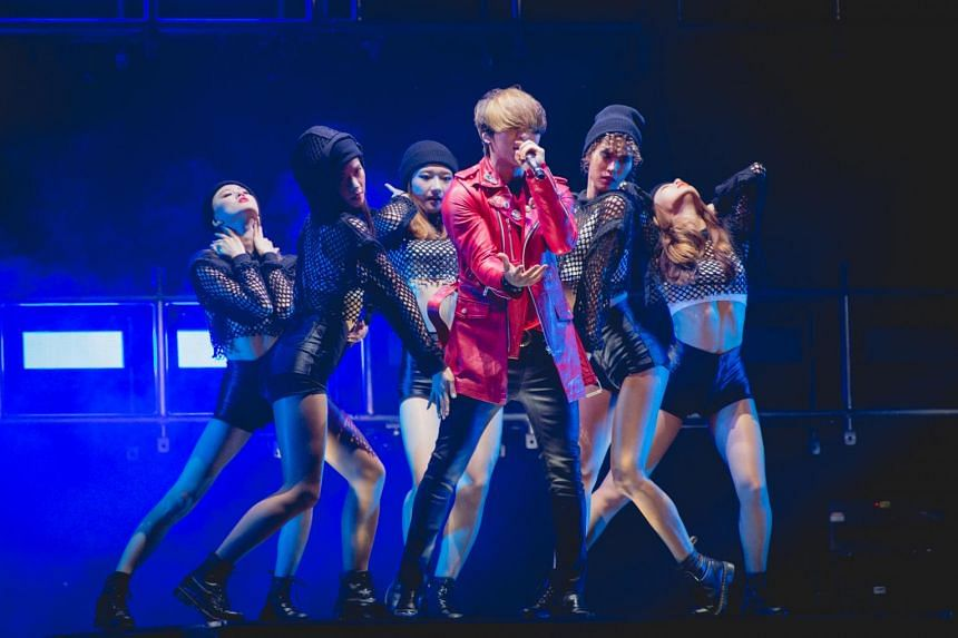 Powerhouse vocalist Daesung at the BigBang 2015 World Tour - Made in Singapore at the Singapore Indoor Stadium.