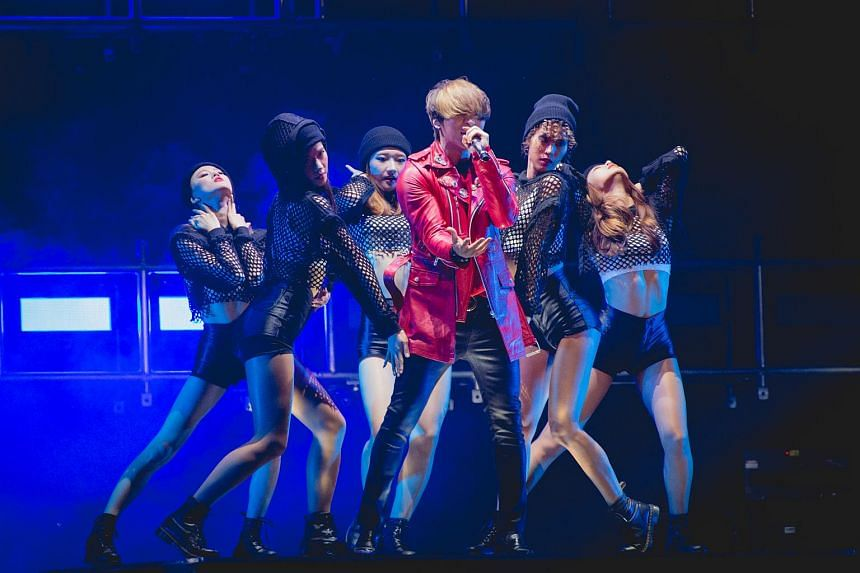 Powerhouse vocalist Daesung at the BIGBANG 2015 WORLD TOUR - MADE In SINGAPORE concert at the Singapore Indoor Stadium.