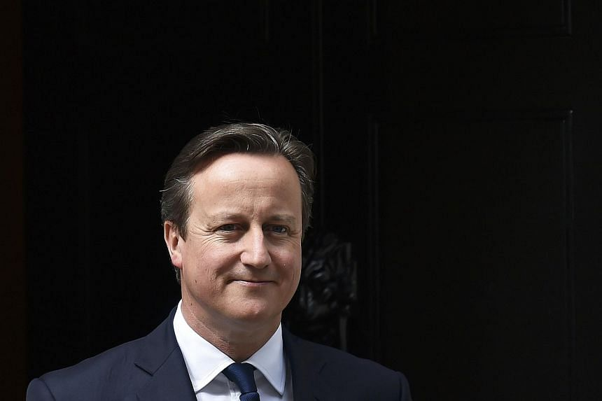 Britain's Prime Minister David Cameron at Number 10 Downing Street in London, Britain on July 15, 2015.