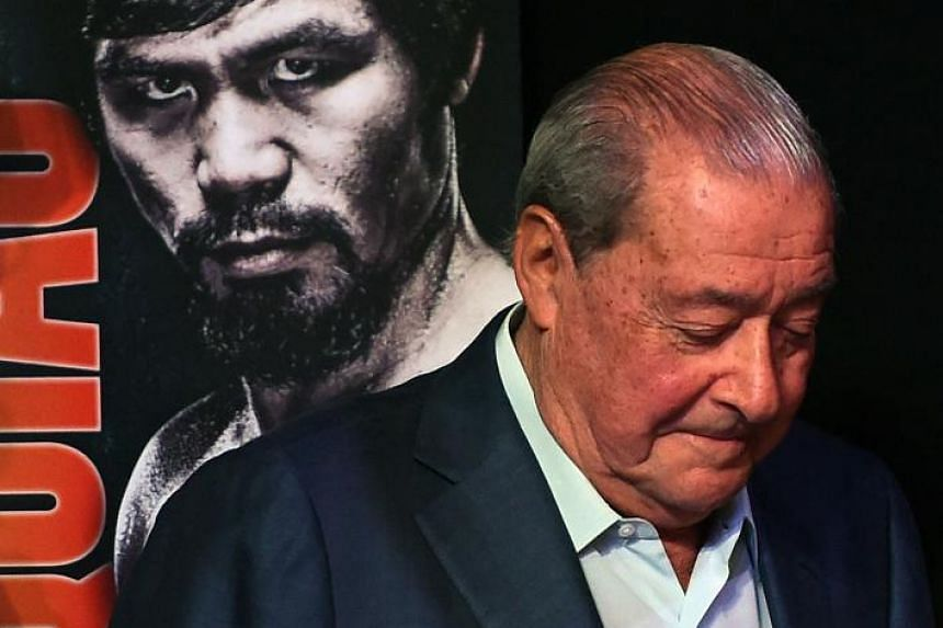 Veteran boxing promoter Bob Arum has criticised Manny Pacquiao for missing a planned rehab session.