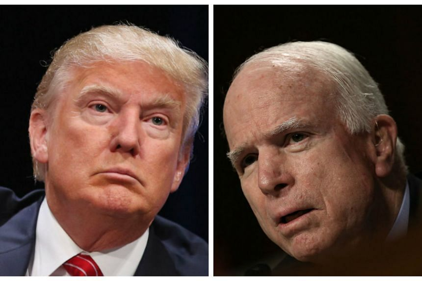 Donald Trump (left) heaped scorn on John McCain's (right) military record.