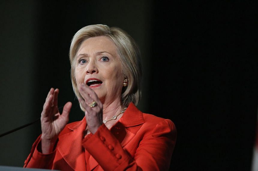 Hillary Clinton speaks to guests at the Iowa Democratic Party's Hall of Fame Dinner on July 17, 2015.
