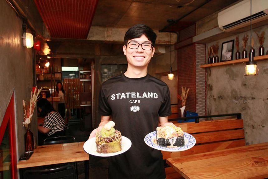 Co-owner Yeo Chern Yu of Stateland Cafe in Bali Lane.