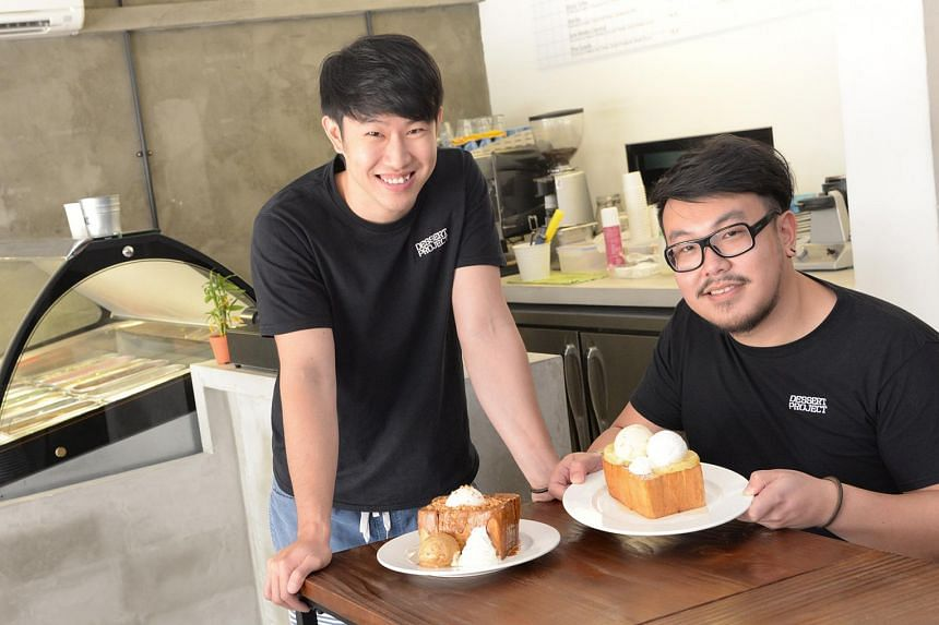Owners Tan Kay Gin (left) and Gary Soh of Dessert Project in Havelock Road.