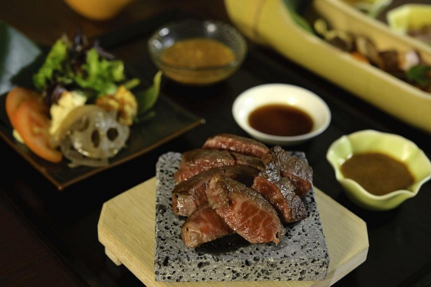The Extravagance Lunch Set, which includes Miyazaki wagyu beef.