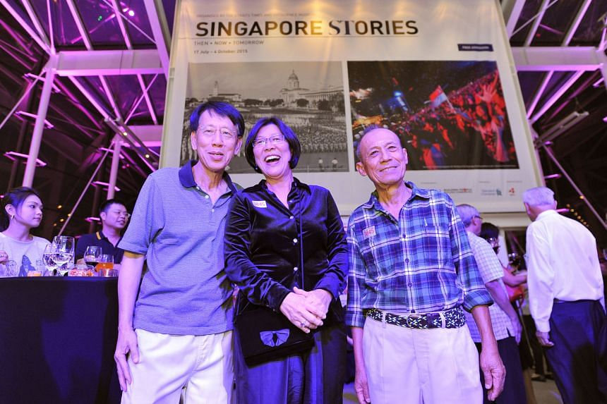 (Above, from left) Former journalist Yap Boh Tiong, former Bangkok correspondent Tan Lian Choo and former journalist Ismail Kassim.