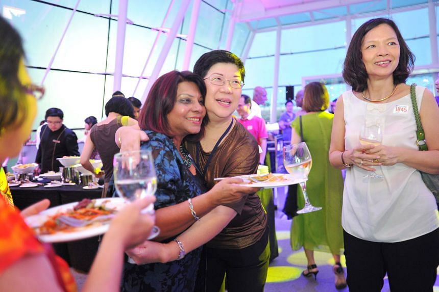 (From left) Former Straits Times reporter Ranee Govindram, ST head of administration Iris Koh and former reporter Nancy Loh at the Singapore STories: Then. Now. Tomorrow exhibition, which marks the paper's 170th anniversary