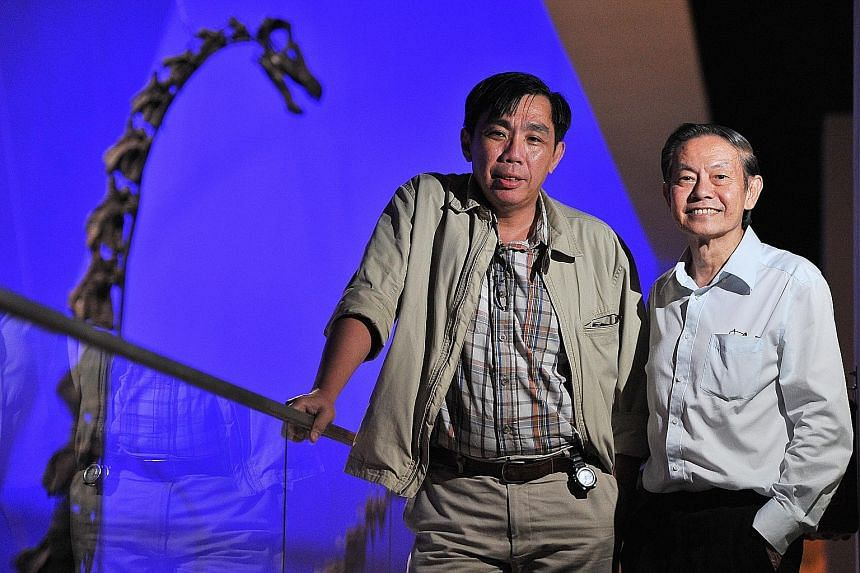 Professor Peter Ng (left) and Professor Leo Tan raised $46 million in six months in 2010 to set up the museum.
