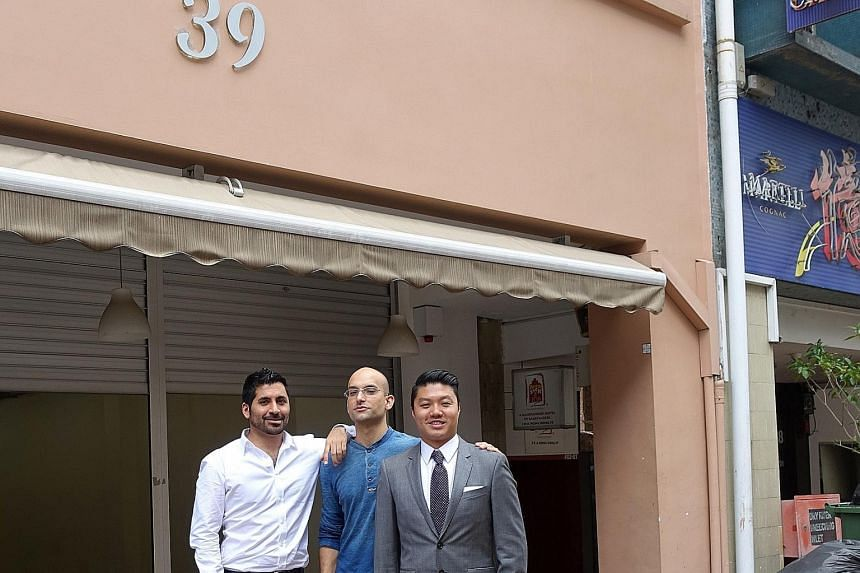 (From left) Bacchanalia co-owner Raj Datwani, chef Ivan Brehm and co-owner Alex Chew at the restaurant's new premises.