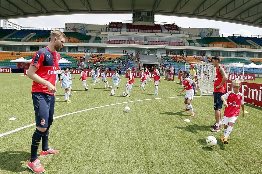 Apart from the action on the field, the Barclays Asia Trophy also included other activities like football clinics.