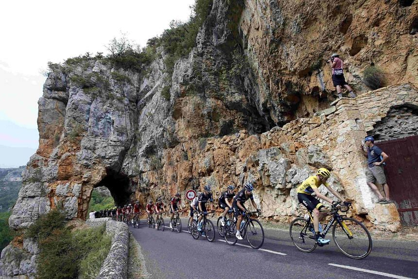 Team Sky rider Chris Froome (right) has been the subject of speculation over possible drug-taking, after he posted an early big lead over other leading contenders in the Tour de France.