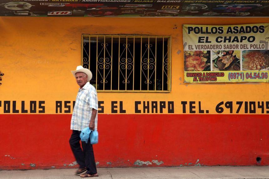 "The ""El Chapo"" roast chicken restaurant in Mexican drug lord Joaquin Guzman's hometown of Badiraguato."