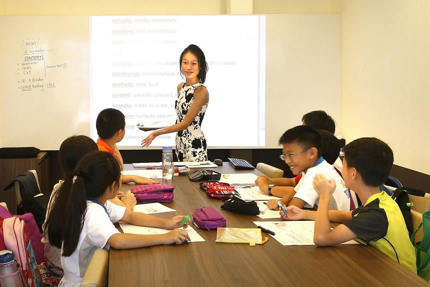 A class of gifted education programme pupils attending an enrichment session.