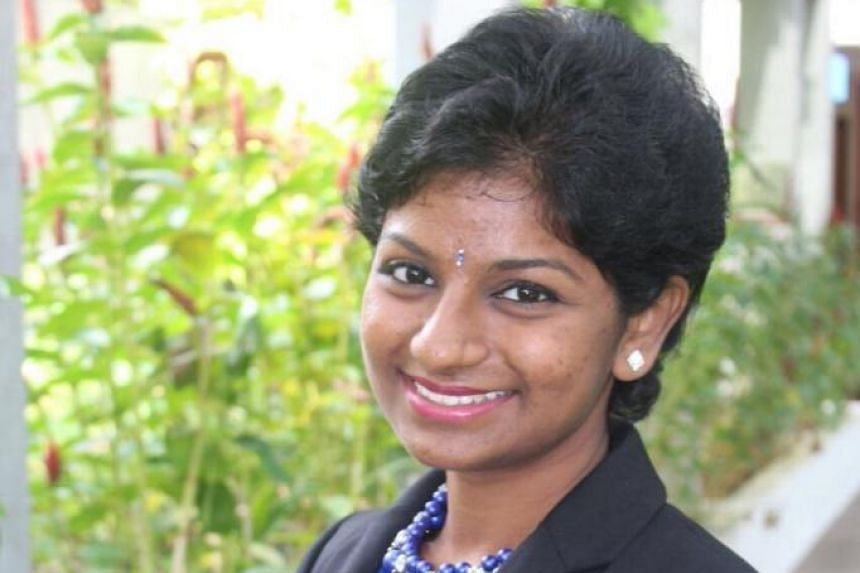 Miss M. Premikha, who will be starting classes at NUS next month, was the first woman to be selected for the role of prime minister at the Singapore Model Parliament.