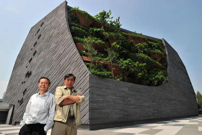 Professor Leo Tan (left) and Professor Peter Ng want to correct the public perception of museums as dusty tombs.