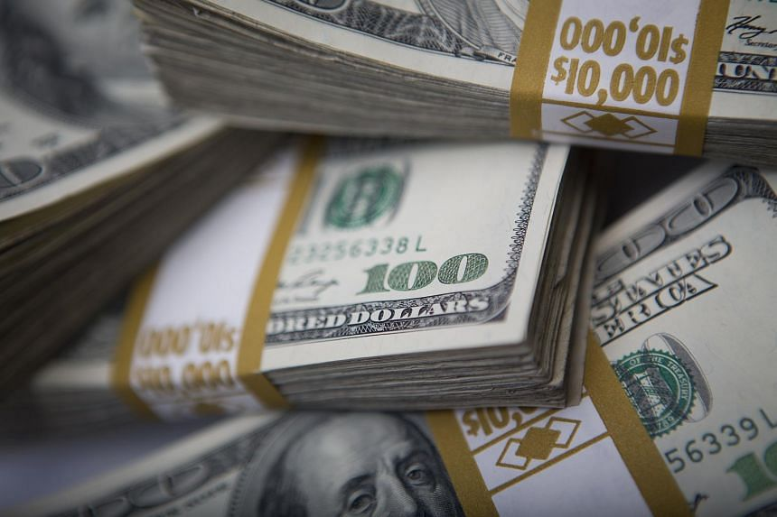 The US dollar hit a three-month high against a basket of major currencies.