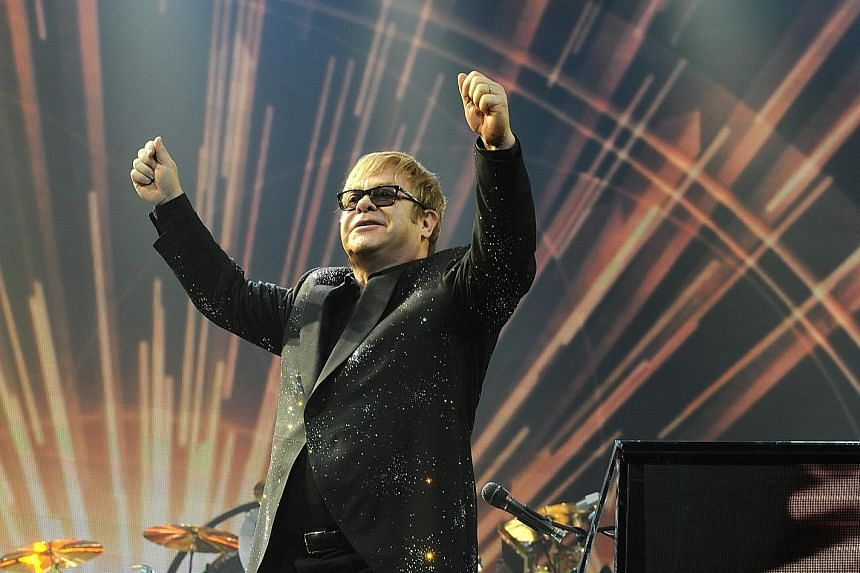 Elton John has played in Singapore six times since his first show in 1993.