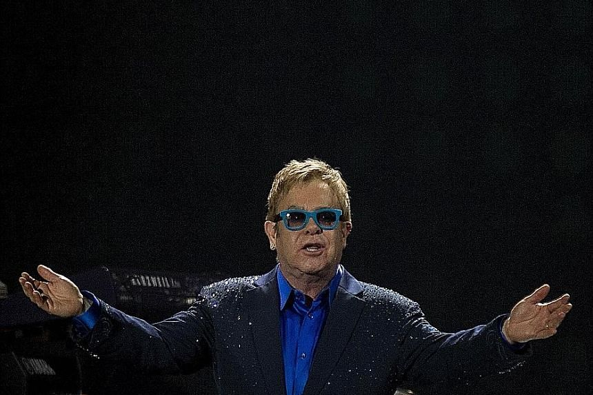 Rocket Man Elton John, 68 (above), is still firing on all cylinders five decades after his debut.