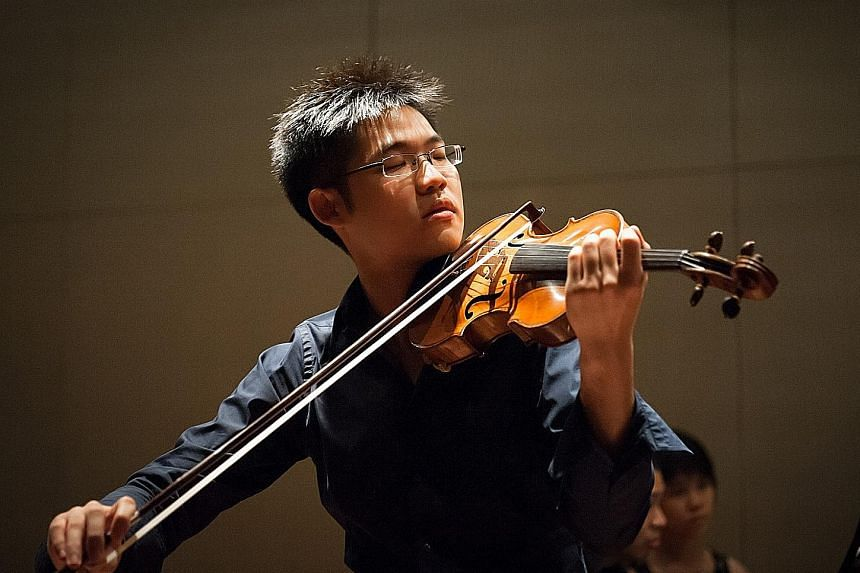 Violinist Alan Choo says his performances are never about him, but the music.